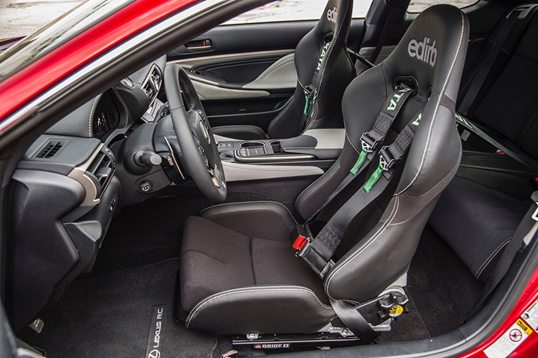 Interior of 2015 Lexus RC 350 F Sport